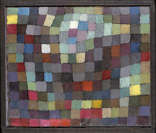 May Picture de Paul Klee (1925) huile sur carton, 42,2 cm x 49,5 cm, The Metropolitan Museum of Art, New York.
