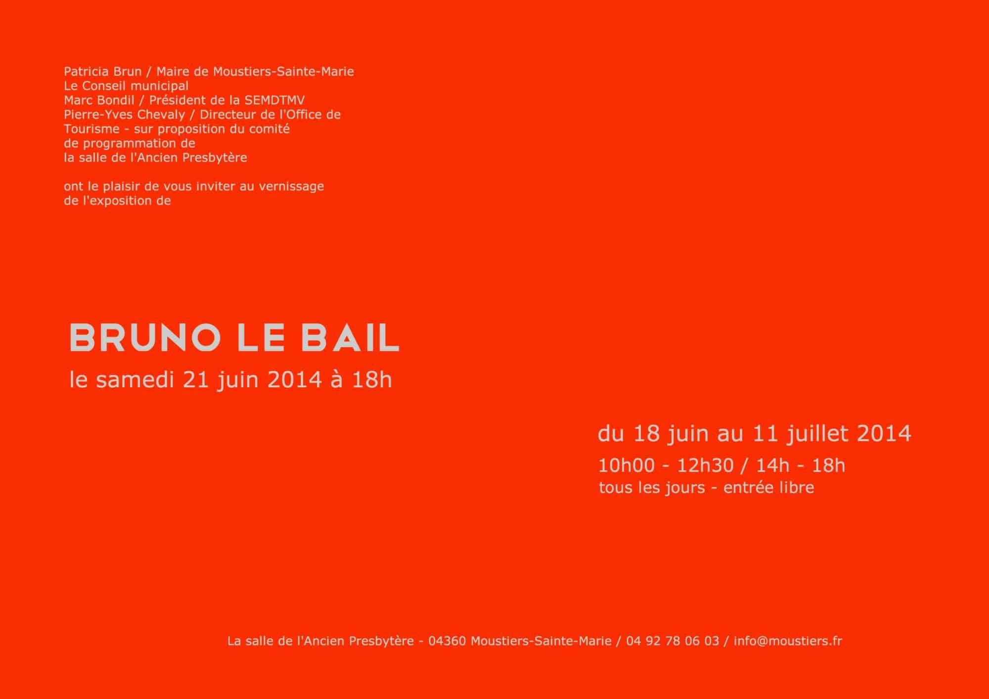 Exposition Bruno Le Bail Moustiers Sainte-Marie