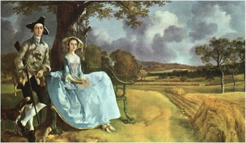 Mr and Mrs Andrews de Thomas Gainsborough, Une robe ciel de Bruno Le Bail