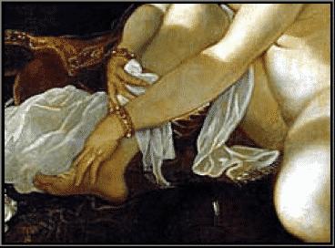 Suzanne et les vieillards, Tintoret, détail