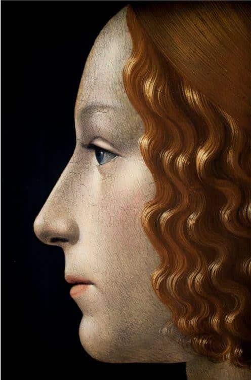 Domenico Ghirlandaio, Ritratto di Giovanna Tornabuoni (part.), 1488