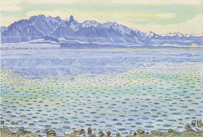 Thunersee mit Stockhornkette 1904 oil on canvas 71 x 105 cm Private collection