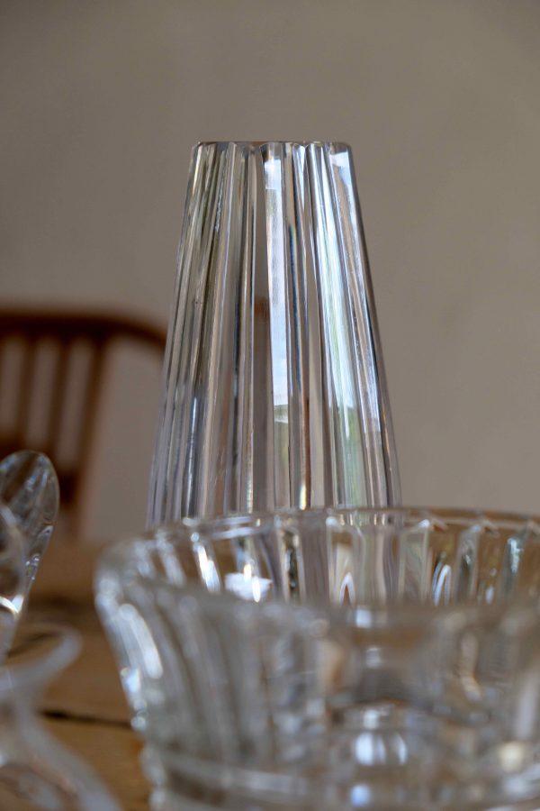 vase cristal taillé années 50